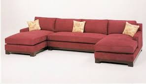 double chaise sectional sofa. Exellent Chaise 3 Pc Custom Sectional Sofa With Wood Trim Base And Double Chaise Throughout Double Chaise Sectional Sofa E