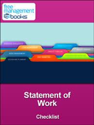 It Statement Of Work Statement Of Work Checklist