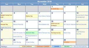 November Through November Calendars Free November 2018 Printable Calendar Blank Templates Calendar