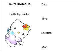 Hello Kitty Online Invitations Amazing Design Your Own Birthday