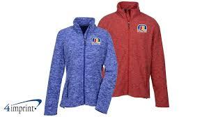 Crossland Fleece Jacket Size Chart Crossland Heather Fleece Jacket Custom Jacket By 4imprint