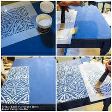 nesting tables made modern and bohemian chic with furniture stencils tribal batik stencil by royal