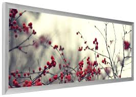 panoramic silver frame 13 5 x 40 in anodized aluminum with wire hanger mount
