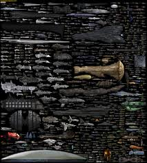 Starship Size Comparison Chart High Resolution Massive Size Comparison Chart Of Famous Spaceships From Sci