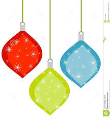 Royalty-Free Stock Photo. Download 3 Retro Christmas Ornaments ...