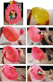 fun to make cute easter string eggs with balloon diy crafts easter