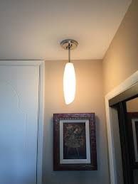 example of the installation of a light fixture