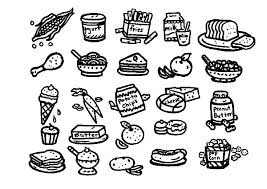Healthy Food Coloring Pictures Eating Page Sheets Free Pages Of Pdf