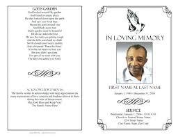 Free Funeral Programs Template Download Memorial Templates Filename