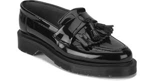 ymc womens solovair patent leather tassel loafers in black for men lyst