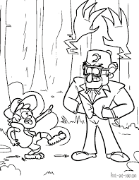 Cooloring Book Gravity Falls Coloring Pages Pikachu Pages Free
