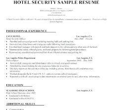 Security Guard Resume Sample No Experience Wikirian Com