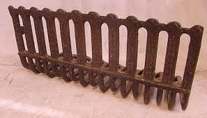 antique ornate cast iron fireplace grate insert log holder a 1 of 6only 1 available
