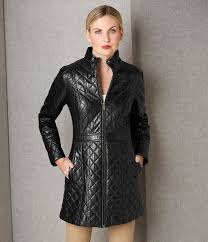 black quilted puffer jones new york genuine leather