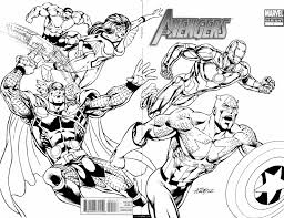 Small Picture marvel superheroes avengers in action coloring page for kids