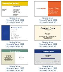 Microsoft Office Business Card Templates Business Card Templates For