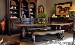 tuscan dining room table rustic dining bench