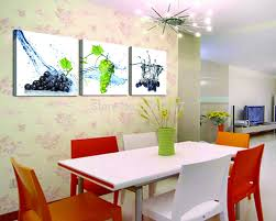 Painting Canvas For Living Room Aliexpresscom Buy 3 Panels Purple And Green Grapes Painting