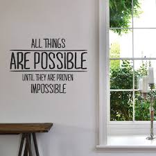office wall stickers. Possible Things Wall Decals Office Proven Impossible Contemporary Quotations Green Tree Inspirational Motivation Astounding Stickers A