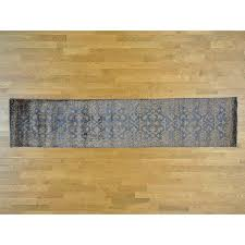 lindisfarne damask tone on tone hand knotted silk blue area rug by canora grey canora