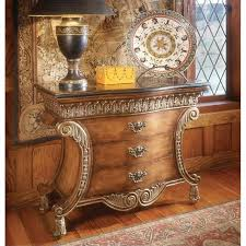 butler specialty connoisseur s 3 drawer accent chest with fossil stone top