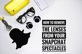 how to remove the lenses from your snapchat spectacles