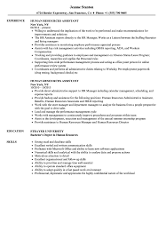 Human Resources Assistant Resume Samples | Velvet Jobs