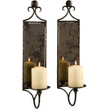 Hammered Mirror Wall Sconce Candle (Set of 2) - Free Shipping Today -  Overstock.com - 16718892