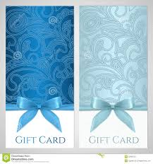 gift card template blue gift certificate template