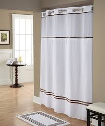 love this white brown monterey hookless shower curtain