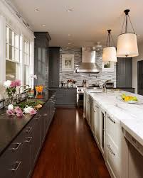 View in gallery two-tone-kitchen-cabinets-Transitional-Kitchen-Colour -Schemes-