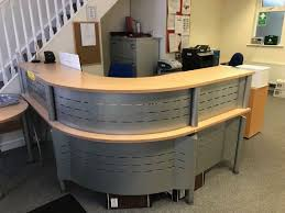 office reception table. Curved Office Reception Desk In Dublin, Thumbnail 1 Table T