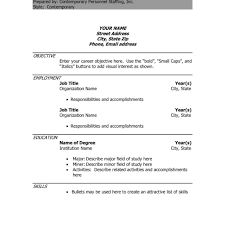 Cool Executive Resume Template Doc With Additional Hr Resume