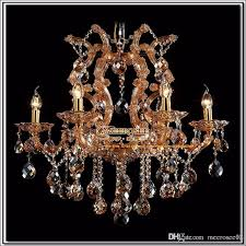 amber chandelier crystal light with k9 crystal maria theresa style glass crystal lighting fixture mds06 l6 fast seashell chandelier chandelier lift