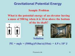 12 physics is life12 gravitational potential energy sample