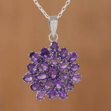 brilliant 22 carat amethyst pendant