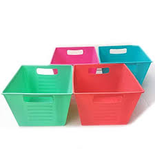 colorful plastic storage bins. Storage Bins Plastic Containers Colorful Cubes Square Slotted Locker Book Bin Set With Handles Toy Organizer On