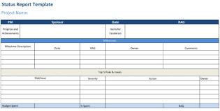 Status Report Template Projectmanager Com