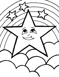 printable star coloring pages stars printable star for kids trek page
