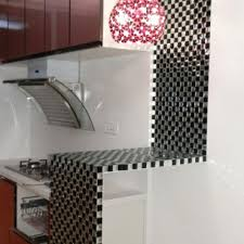 black and white mosaic bathroom floor tiles pyramid 3d glass patterns kitchen bar table mirror tile