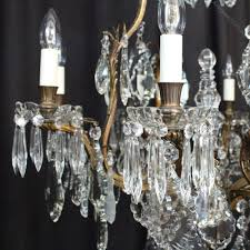 french bronze crystal 9 light chandelier antique lighting antique french chandeliers