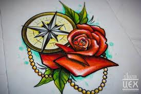 компас татуировки эскиз 2 часы компас эскизы татуировки тату