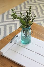 Easy DIY wooden tray tutorial. Perfect for a coffee table or serving tray!