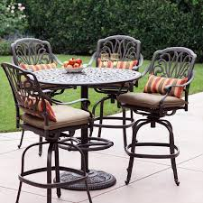lowes outdoor patio dining set. darlee elisabeth 5-piece antique bronze aluminum bar patio dining set lowes outdoor i