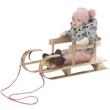 child size sleigh with pull rope