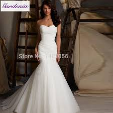 romantic 5108 fishtail wedding dress simple style dress for bride