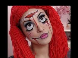 creepy rag doll makeup tutorial
