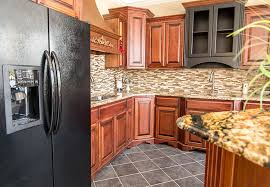 ornamental granite countertops matched with gold crystal granite island top stone radiance tile backsplash and