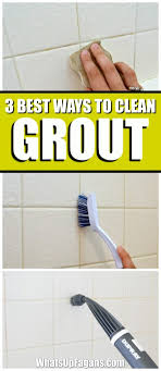 best way how to clean grout in your bathroom shower tiles cleaning tip baking