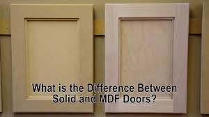 what is the difference between solid wood and mdf cabinet doors you